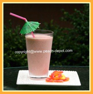 Homemade Healthy Peach Raspberry Smoothie Idea