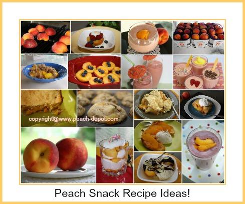 Peach Snack Recipes Ideas