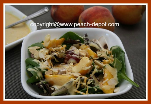 Peach Spinach Salad Recipe with Citrus Dressing