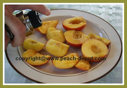 Preparing Nectarines for the Grill