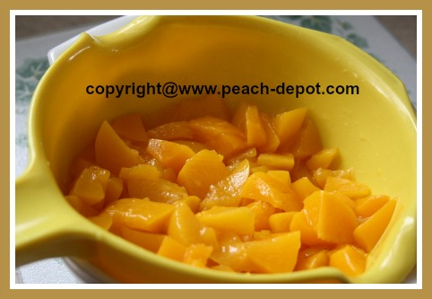 Recipe Using Canned Peaches / Draining Peaches