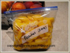 Storing Peaches by Freezing Peaches