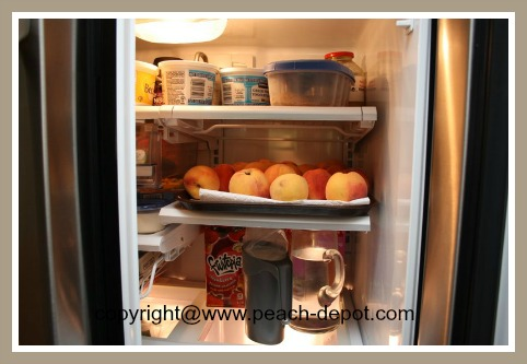 Storing Ripe Peaches in the Refrigerator