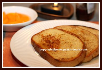 French Toast Made for Breakfast or Brunch with Fruit