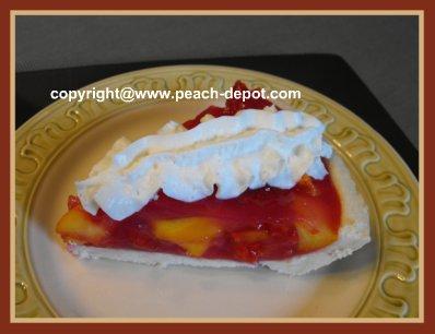 Recipe for Fresh Peach Pie using Jello/Gelatin Shortbread Crust