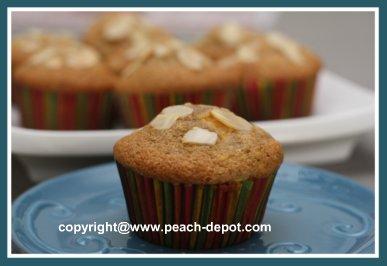 Homemade Peach Almond Muffins Recipe