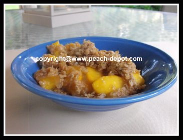 Peach Crisp Recipe with Oatmeal Topping