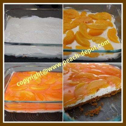 How to Make a Peach No Bake Peach Dessert with Canned Peaches