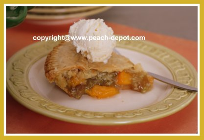 Rhubarb Peach Pie with Double Purchased Crusts