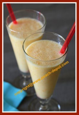 Recipe for Peach Smoothie with Milk
