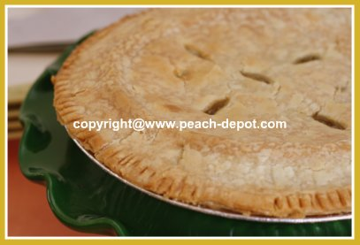 Peach and Rhubarb Pie