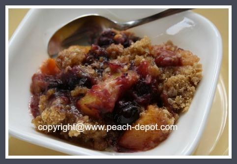 Blueberry Peach Crumble Recipe