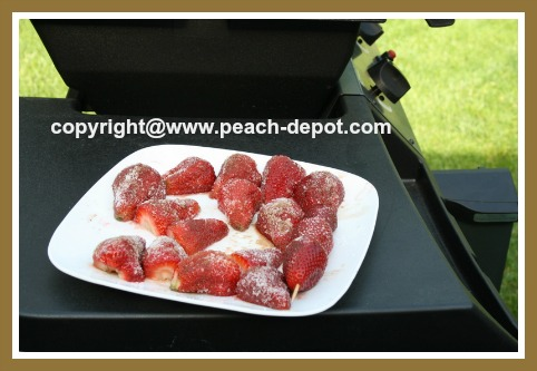 Fresh Strawberries Ready for Grilling