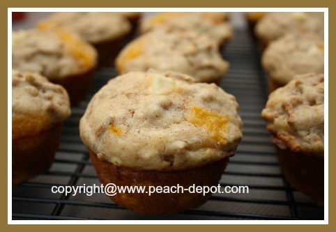 Healthy Homemade Peach Muffins
