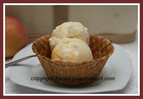 Homemade Peach Ice Cream Recipe to Make with or without and Ice Cream Maker