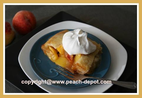 Homemade Low Fat Peach Cobbler