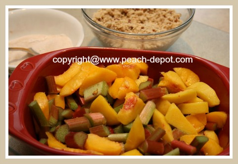 Making a Fruit Crumble Dessert with Oatmeal Topping