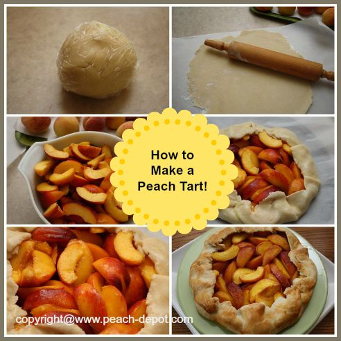 Images Showing How to Make a Fresh Peach Tart Recipe