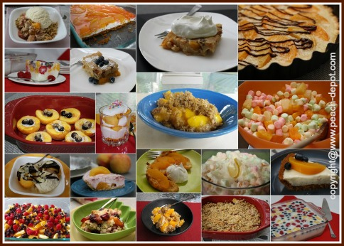Collage Pictures of Peach Desserts for Dessert Recipes