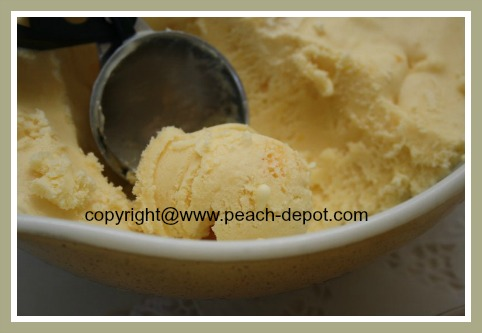 Peach Ice Cream Recipe for Ice Cream Maker