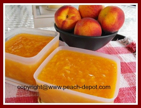 Peach Jam and Jelly Recipes / Homemade Peach Freezer Jam Image