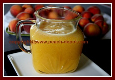 Fresh Homemade Peach Juice