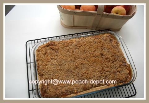 Peach Pie made with Fresh Peaches at Peach Depot