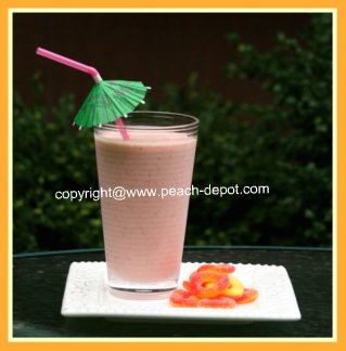 Homemade Healthy Peach Raspberry Smoothie Idea