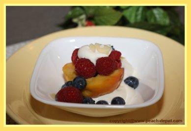 No Fat Fruit Snack Recipe / peaches and berries snack recipe