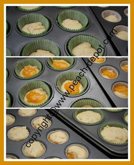 Recipe for Homemade Peach Muffins with Jam