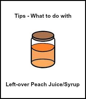 Ideas for What to Do with Left Over Fruit Juice or Fruit Syrup from Canned Fruit